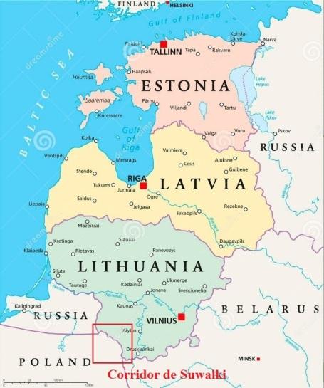 carte pays baltes